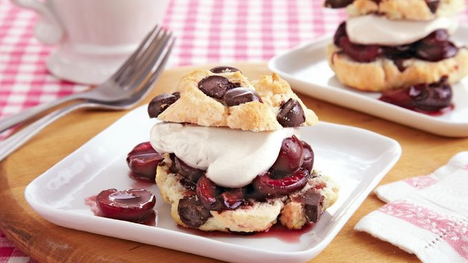 Cherry Chocolate Chunk Shortcakes