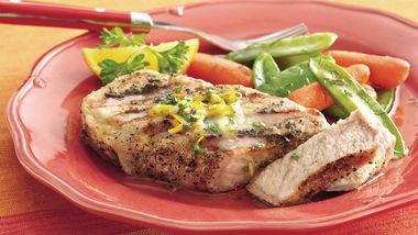 Grilled Orange-Parsley Pork Chops