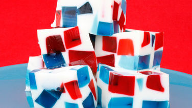 4th of July Stained Glass Gelatin Squares