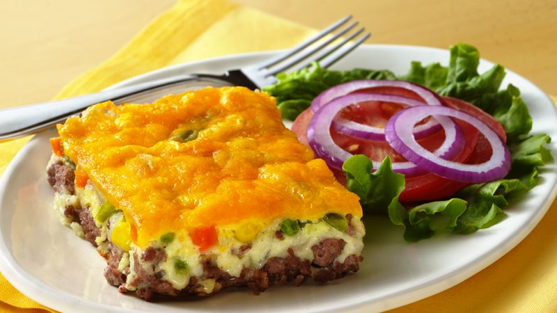 Impossibly Easy Cheeseburger Pie (Crowd Size)
