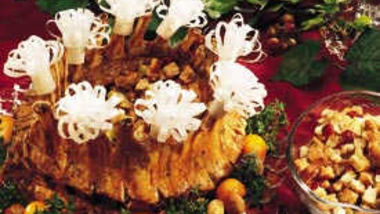 Crown Roast of Pork with Apple-Cranberry Stuffing