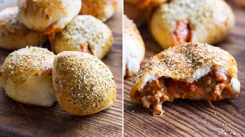 Sausage and Pepperoni Pizza Bombs