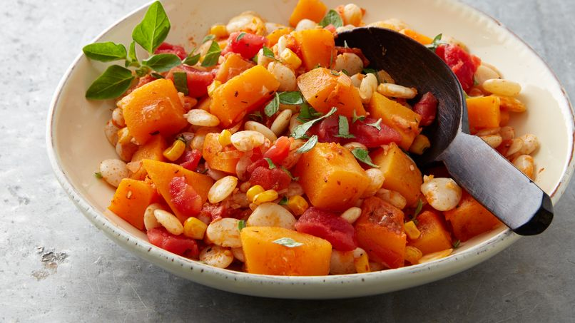 Lima Bean Salad with Corn and Pumpkin