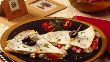 Mediterranean Chicken Quesadillas