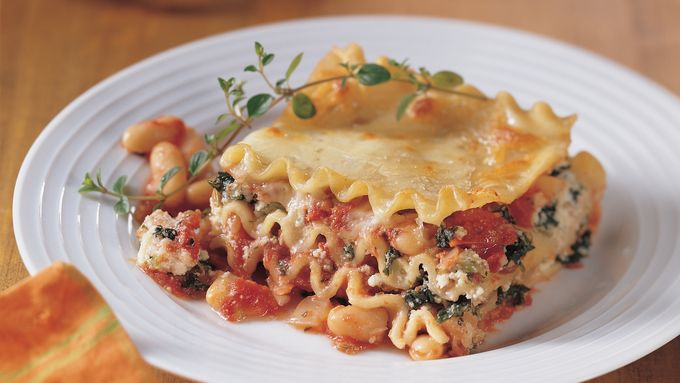 Vegetarian Cannellini Bean Lasagna