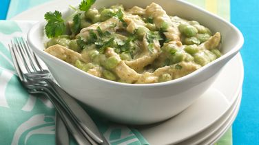 Baby Lima Beans in Green Salsa with Chicken