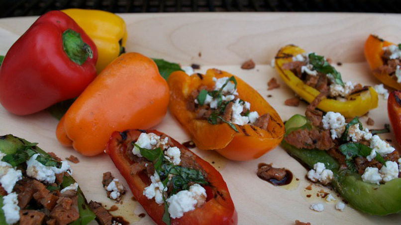 Stuffed Rainbow Bell Peppers