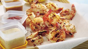 Spicy Grilled Shrimp Platter