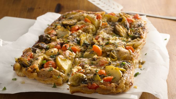 Roasted Veggie-Puff Pastry Tart
