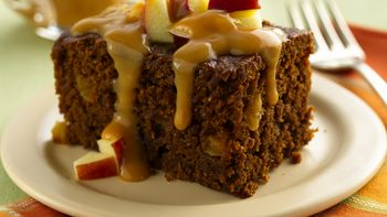Ginger Cake with Caramel-Apple Topping