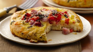 Ham & Eggs Frittata Biscuits