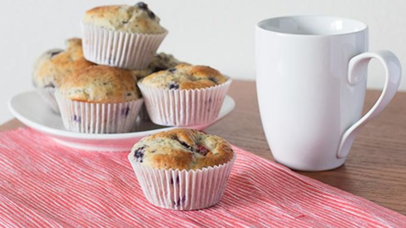 Mixed Berry Chia Muffins