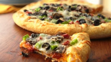 Stuffed-Crust Pepperoni Pizza