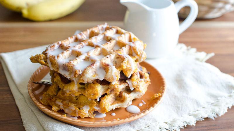 Pumpkin Pie-Stuffed Waffles