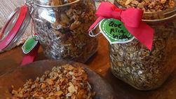 Homemade Granola Gift Jars