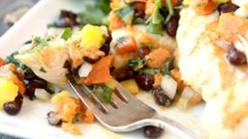 Chicken with Roasted Sweet Potato Salsa