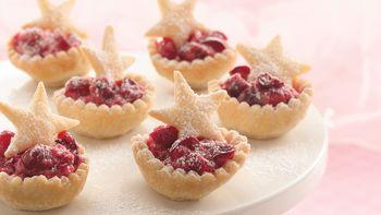 Cranberry Mousse Mini Tarts