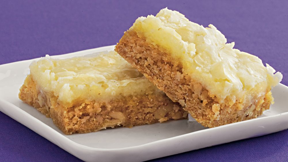 Pecan-Cream Cheese Bars