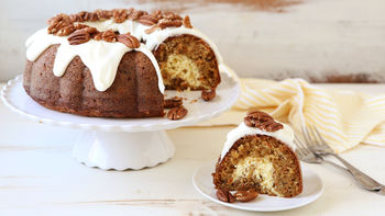 Cheesecake-Swirled Carrot Bundt Cake