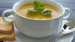 Cream of Pumpkin Soup with Chicken