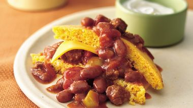 Cornbread Chili Stacks