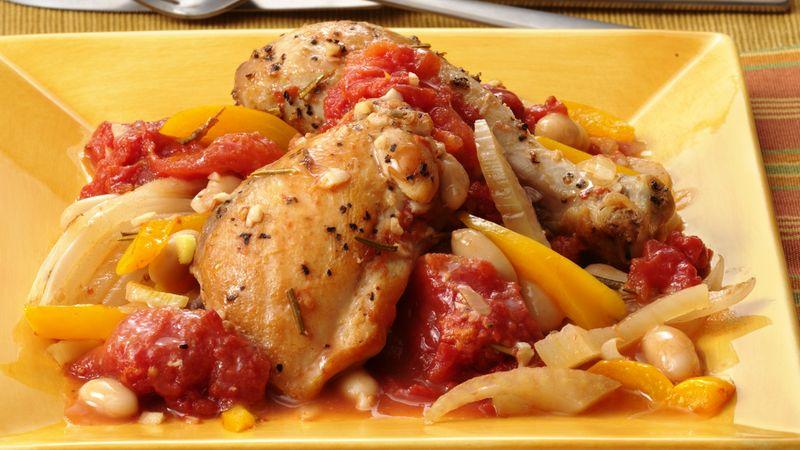Gluten-Free Braised Chicken with Fennel and White Beans