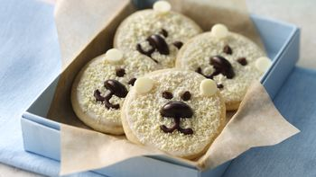 Baby Polar Bear Shortbread Cookies