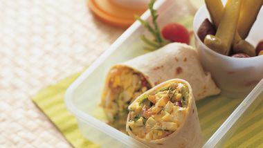 Dilled Shrimp and Egg Salad Wraps