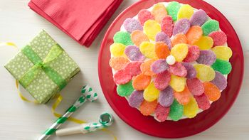 Simple Gum Drop Flower Cake