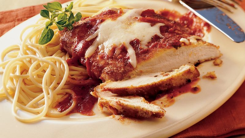 Skillet Chicken Parmigiana recipe from Betty Crocker
