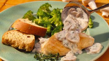Creamy Herb-Mushroom Sauce