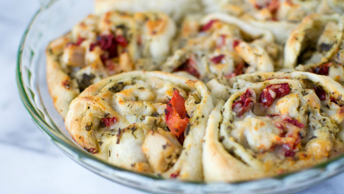 Turkey Pesto Roll-Ups