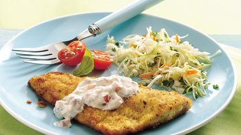 Fish Fillets with Herbed Tartar Sauce