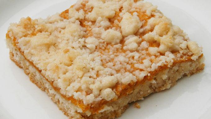 Pumpkin Streusel Cookie Bars