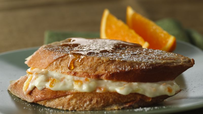 Cream Cheese-Filled Batter-Dipped French Toast