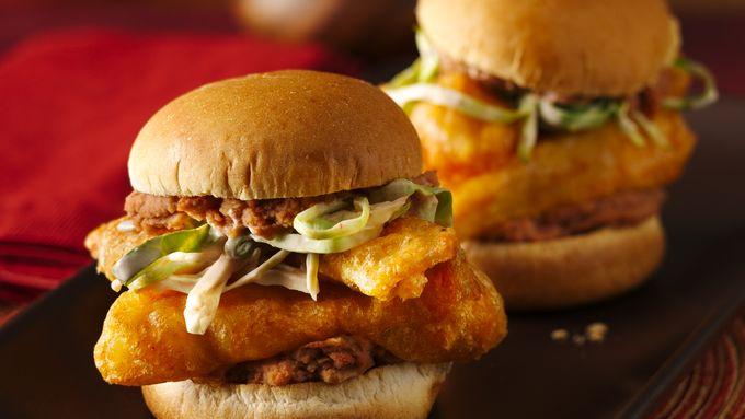 Fish Taco Torta Sliders