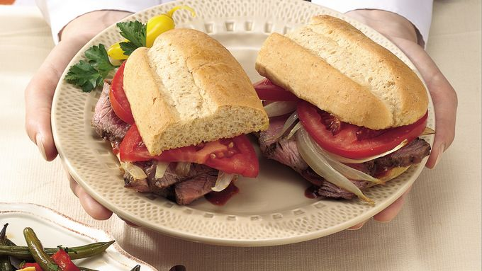 Grilled Steak and Onion Sandwiches