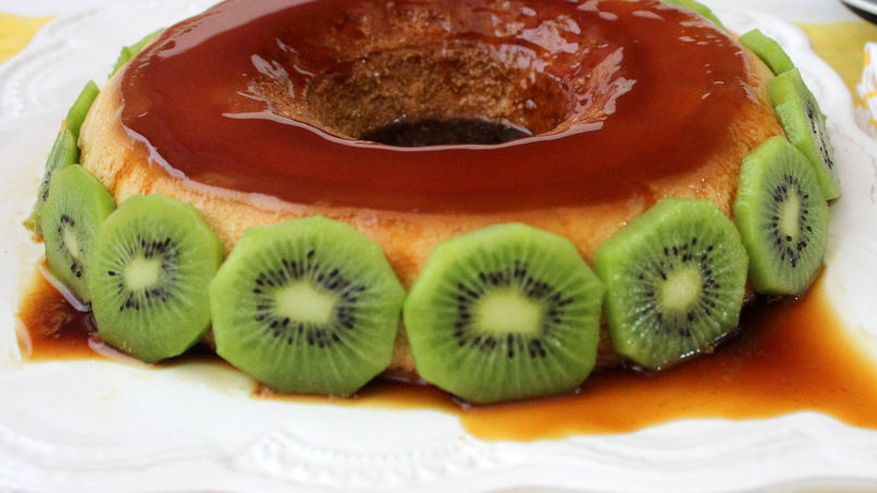 Amaretto Cheese Flan