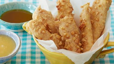Crunchy Honey Roasted Chicken Fingers