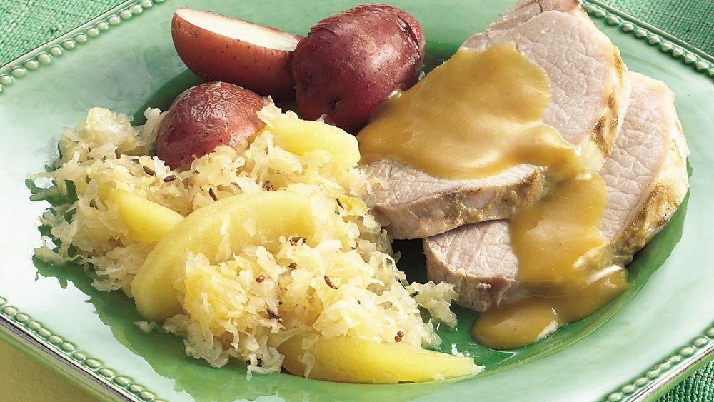 Slow-Cooker Pork Roast and Sauerkraut Dinner