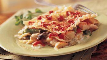 Golden-Crusted Chicken-Asparagus Lasagna