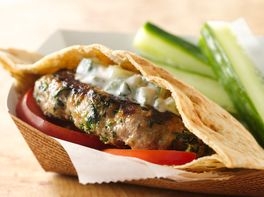Greek Turkey Burgers with Minted Cucumber Sauce