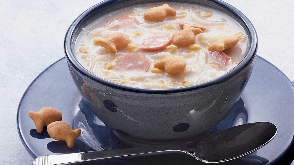 Creamy Corn and Hot Dog Chowder