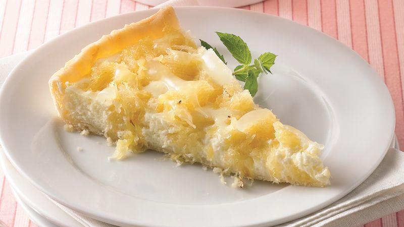 Tropical Pineapple-Cream Cheese Tart