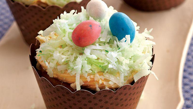Bird's Nest Cupcakes