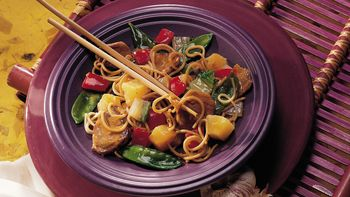 Chinese Pork and Pasta
