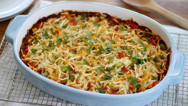 Hash Brown Enchilada Breakfast Casserole