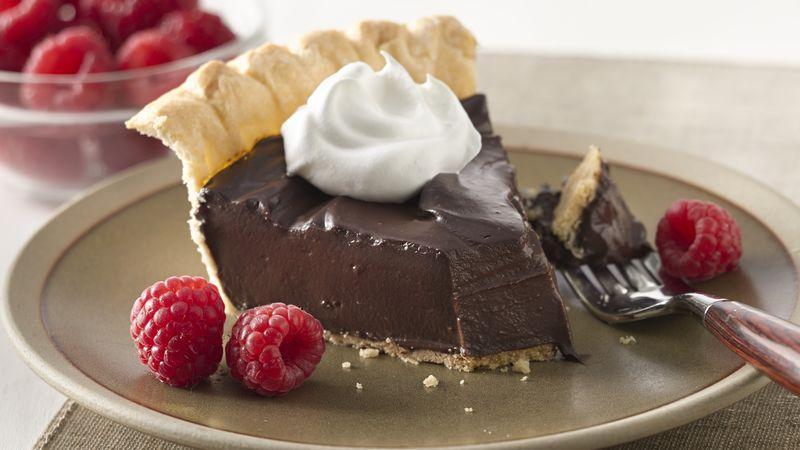 Silky Dark Chocolate Pie