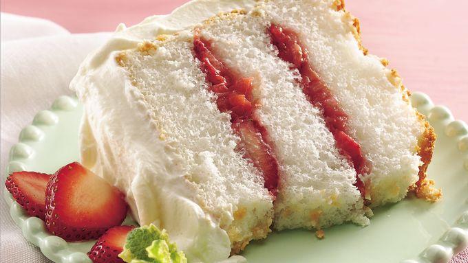 Strawberry-Rhubarb Angel Torte
