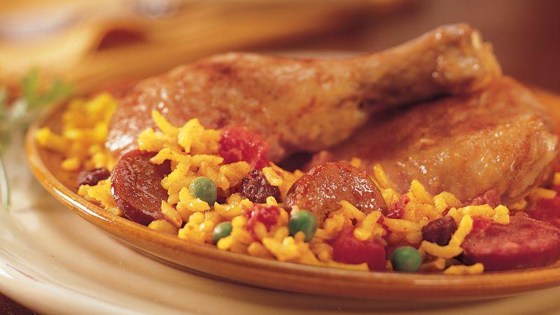 Picadillo Chicken Paella